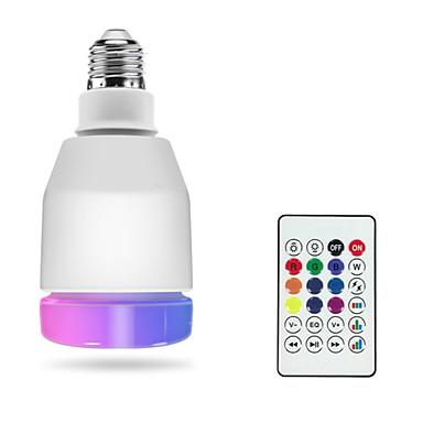 billige Elpærer-1pc rgbw led smart pærer e27 led lampe fjernkontroll bluetooth 4.0 høyttaler musikk fargerik dimmable led lys ac100-240v
