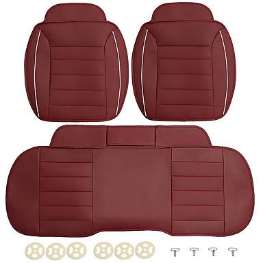 voordelige Auto-interieur accessoires-3 stks pu lederen auto voor achter stoelhoezen universele seat protector zitkussen pad mat