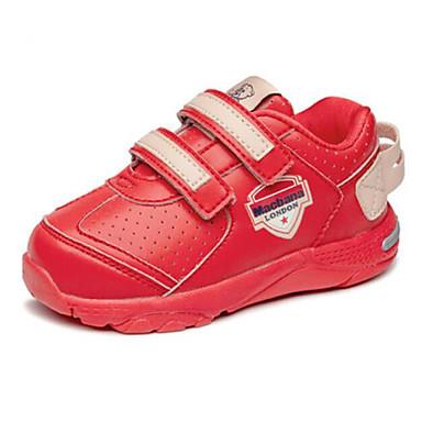 voordelige Babyschoenentjes-Meisjes Comfortabel / Eerste schoentjes Microvezel Sportschoenen Peuter (9m-4ys) / Little Kids (4-7ys) Wandelen Wit / Zwart / Rood Herfst winter