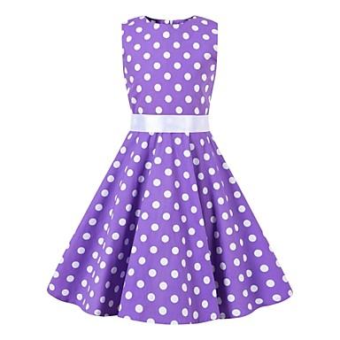 67a2d353b28e Audrey Hepburnová Květinový styl Vintage Retro Hepburn Kostým Dívčí Dětské  Svetrová sukně Fialová Retro Cosplay Večírek