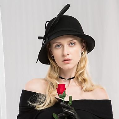 abordables Coiffes-Plume / 100% Laine Kentucky Derby Hat / Chapeaux avec Plume 1pc Décontracté / Usage quotidien Casque