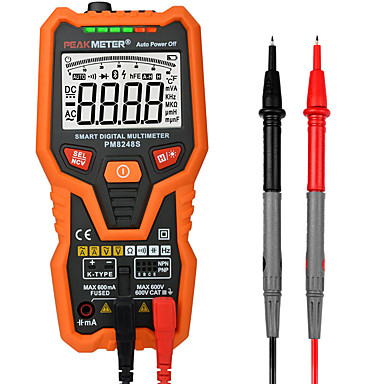 voordelige Test-, meet- & inspectieapparatuur-pm8248s slimme autorange professionele digitale multimeter voltmeter met ncv frequentie achtergrondverlichtingstemperatuurtransistortest