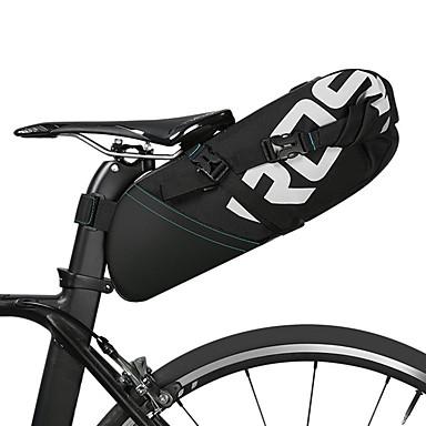 abordables Sacoches de Vélo-ROSWHEEL 10 L Sacoche de Selle de Vélo Réfléchissant Pluie Etanche Zip étanche Sac de Vélo Polyester Sac de Cyclisme Sacoche de Vélo Cyclisme Vélo Cyclisme