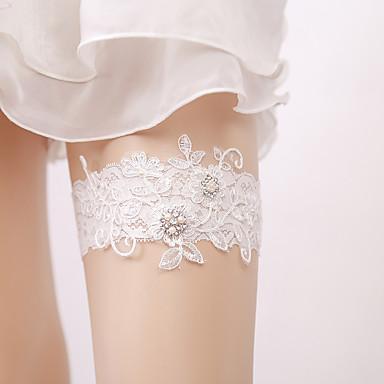 Dantelă Elegant / de Mireasă Nunta Garter Cu Stil cristale împrăștiate / Detalii Perlă Jartiere Nuntă / Petrecere