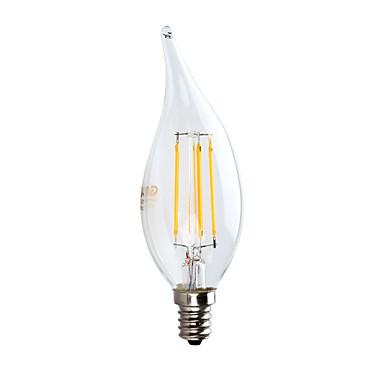 gmy 1pc led candélabre ampoule ca10 3.5w bougie filamentaire équivalent 32w avec e12 base 2700k lustre vintage décoratif