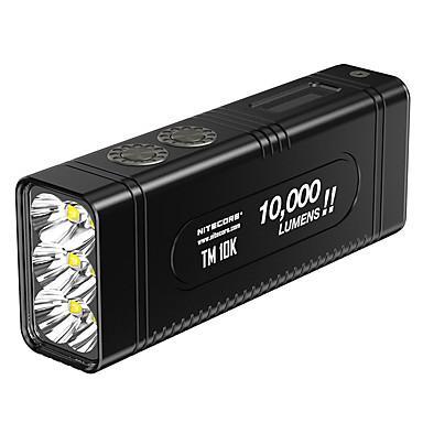 abordables Lampes & Lanternes de Camping-Nitecore TM10K Lampes de poche LED LED Émetteurs 1 Mode d'Eclairage avec Piles et Chargeur Cool Usage quotidien