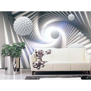 billige Tapet-bakgrunns / Veggmaleri Lerret Tapetsering - selvklebende nødvendig Geometrisk / Art Deco / 3D