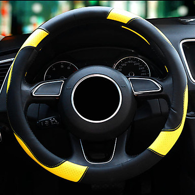 cheap Steering Wheel Covers-Steering Wheel Covers Leather Red / Purple / Yellow For universal All Models All years