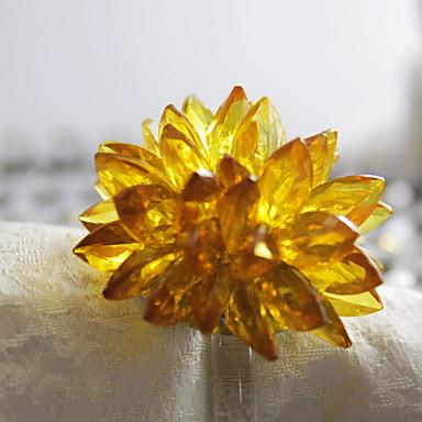Κλασσικό Πλαστική ύλη arylic Κυκλικό Δαχτυλίδι Πετσέτας Μονόχρωμο Λουλούδι Επιτραπέζια διακοσμητικά 12 pcs
