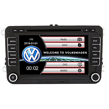 billige Bil Elektronikk-520wgnr04 7 tommers 2 din in-dash bil dvd-spiller berøringsskjerm / gps / innebygd Bluetooth for volkswagen support / rds / rattkontroll / subwoofer utgang / spill / tf / usb / windows system