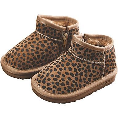 בנות נעליים עור חזיר חורף נוחות / מגפי שלג מגפיים ל ילדים / מתבגר שחור / חום / מגפונים\מגף קרסול