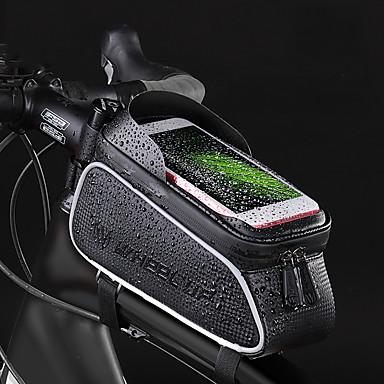 Wheel up 2.457 L Cell Phone Bag Bike Frame Bag Top Tube Portable Cycling Wearable Bike Bag Terylene Bicycle Bag Cycle Bag Cycling / iPhone X / iPhone XR Outdoor Exercise Trail / iPhone XS