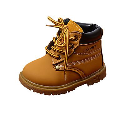 4fcf3169178 Αγορίστικα / Κοριτσίστικα Παπούτσια PU Φθινόπωρο & Χειμώνας Ανατομικό /  Μπότες Μάχης Μπότες για Παιδιά Μαύρο / Κίτρινο / Καφέ