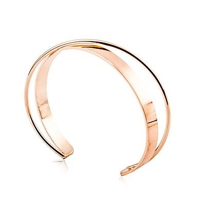 voordelige Bangle-Dames Cuff armbanden crossover Tropisch Romantisch Zoet Legering Armband sieraden Zilver / Goud Rose Voor Lahja Carnaval Afspraakje
