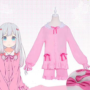081304cfaa84c Inspired by Eromanga Sensei Weiss Schnee / Izumi Sagiri Anime Cosplay  Costumes Japanese Cosplay Suits / Kigurumi Pajamas Bowknot Short Sleeve Top  / ...