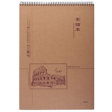 1 Pacco M&g Apymt403 Album Per Schizzi 40 Lenzuola B4 #07131724 Materiali Di Alta Qualità Al 100%