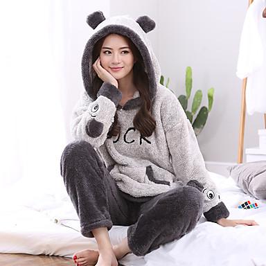dc5ad294416 Adults' Hoodie Kigurumi Pajamas Bear Onesie Pajamas Flannel Fabric ...
