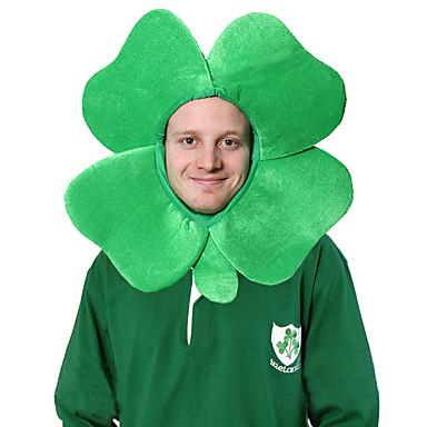 Peter Pan Irländsk klöverhatt Vuxna Grön Velour Party Cosplay-tillbehör  Halloween   Karnival   Maskerad de9a31baa9b0a
