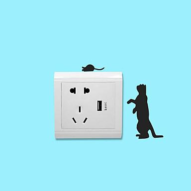 لواصق مفتاح الاضاءة - ملصقات الحائط الحيوان حيوانات غرفة الجلوس / غرفة النوم / دورة المياه