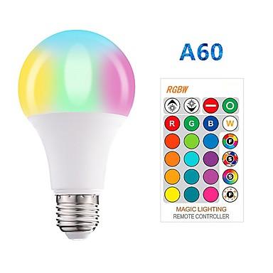 abordables Ampoules LED Connectées-1pc 5 W Ampoules LED Intelligentes 350 lm E26 / E27 A60(A19) 3 Perles LED SMD 5050 Elégant Intensité Réglable Soirée RGBW 85-265 V / RoHs