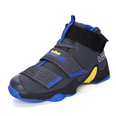 בגדי ריקוד גברים / יוניסקס נעלי נוחות PU אביב קיץ ספורטיבי / יום יומי נעלי אתלטיקה נושם אפור כהה / שחור אדום / שחור וצהוב