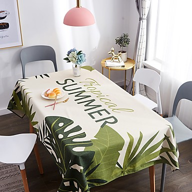 Classic Casual 120g / m2 Polyester Knit Stretch Crocodile Square Table Cloth Patterned Printing Water Resistant Flower Table Decorations