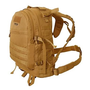 Ryggsäckar Militär taktisk ryggsäck 45 L - Regnsäker Utomhus Camping Nylon Svart Brun