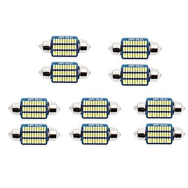 povoljno Automoto-10pcs 31mm / 36mm Automobil Žarulje 1 W SMD 3014 60-100 lm 21/30 LED Svjetlo za registarske tablice / Svjetla u unutrašnjosti Za Univerzális