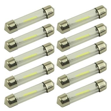 preiswerte Auto Innenleuchten-10 Stück 41mm / 39mm Auto Leuchtbirnen 1 W COB 80 lm 1 LED Kennzeichenbeleuchtung / Blinkleuchte / Innenbeleuchtung Für Universal