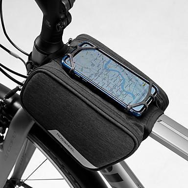 abordables Sacoches de Vélo-1.5 L Sac de téléphone portable Sac de cadre de vélo Etanche Portable Vestimentaire Sac de Vélo 600D Polyester Sac de Cyclisme Sacoche de Vélo iPhone X / iPhone XR / iPhone XS Activités Extérieures