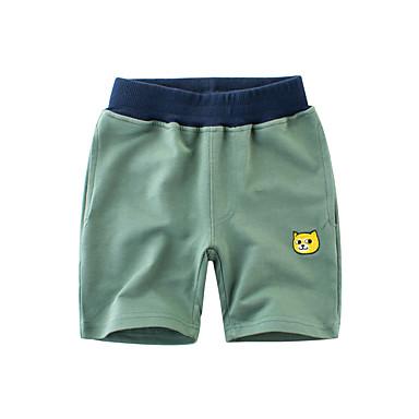 baratos Calças para Meninos-Bébé Para Meninos Sólido Algodão Shorts Verde Claro