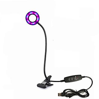 6 W גוברת מנורה 400 lm USB 24 LED חרוזים SMD 2835 תזמון Spottivalo מחזיק מנורה גמיש אדום כחול 5 V, 1pc