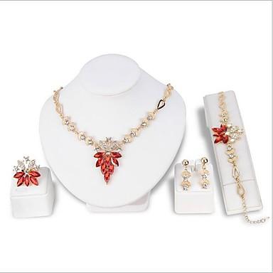 4cc02177f Women's Classic Jewelry Set Rhinestone, Gold Plated Vintage, Elegant,  everyday, fancy Include