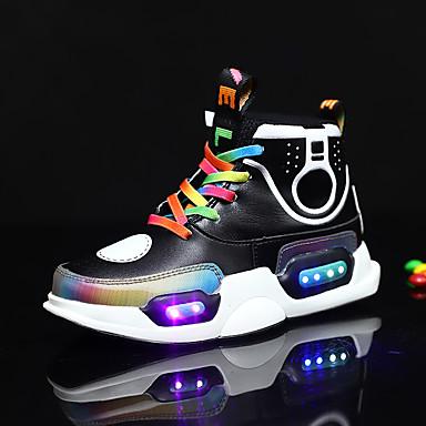 baratos Sapatos de Menino-Para Meninos / Para Meninas Renda / Microfibra Tênis Criança (9m-4ys) / Little Kids (4-7 anos) / Big Kids (7 anos +) Tênis com LED Caminhada LED Preto / Roxo Primavera / Outono / Borracha