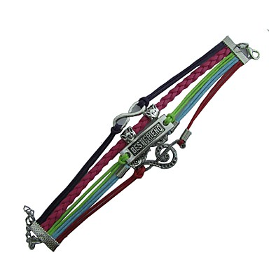 voordelige Herensieraden-Heren Dames Wikkelarmbanden Gevlochten Muziek Muzieknoot Hip-hop Rips Armband sieraden Roze Voor Dagelijks Ceremonie