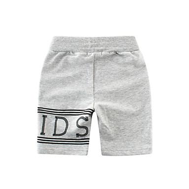 baratos Calças para Meninos-Infantil Para Meninos Sólido Shorts Preto