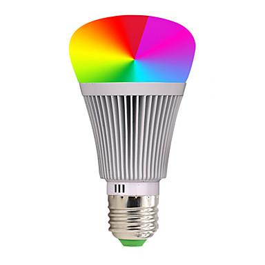 billige Elpærer-YWXLIGHT® 1pc 7 W LED-globepærer 600-700 lm E26 / E27 - LED perler COB APP-kontroll Smart Mulighet for demping RGB 85-265 V
