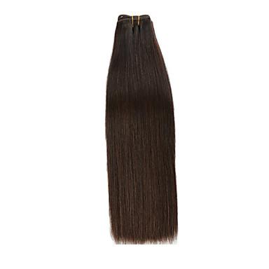 baratos Extensões de Cabelo Natural-1 pacote Cabelo Brasileiro Yaki Liso Cabelo Natural Remy Cuidados com Cabelo Extensor Extensões de Cabelo Natural 14 polegada Natural Tramas de cabelo humano Fabrico à Máquina Suave Confortável