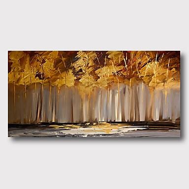 Hang-Painted öljymaalaus Maalattu - Abstrakti Comtemporary Moderni Sisällytä Inner Frame