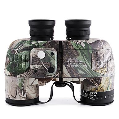 お買い得  キャンプ/ハイキング/バックパッキング-Boshile 10 X 50 mm 双眼鏡 レンジファインダー レンズ 防水 コンパス 屋根のプリズム 全面マルチコーティング BAK4 キャンピング&ハイキング 狩猟 トラベル ナイトビジョン メタル / IPX-7