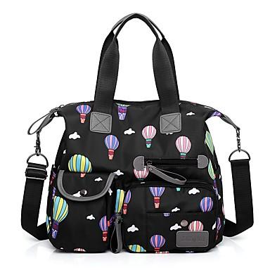 Kadın's Çantalar Naylon Tote Fermuar / Çiçekli için Randevu / Dış mekan İlkbahar yaz / Sonbahar Kış Siyah / Mor / Fuşya