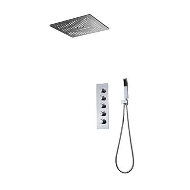 ก๊อกน้ำฝักบัว - ร่วมสมัย มีสี Wall Installation Ceramic Valve Bath Shower Mixer Taps