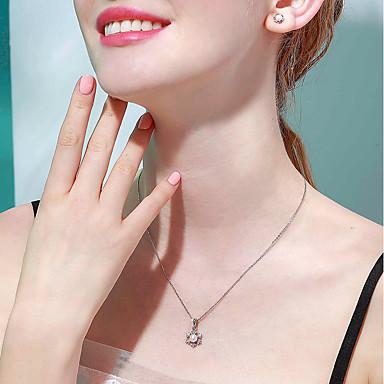abordables Collier-Collier Femme Perle d'eau douce Perle S925 argent sterling Small Blanche 40+3 cm Colliers Tendance Bijoux 1pc pour Anniversaire Valentin