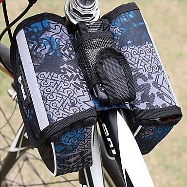 billige Sykkelvesker-B-SOUL 1.5 L Vesker til sykkelstyre Bærbar Anvendelig Utendørs Sykkelveske polyester PVC Sykkelveske Sykkelveske Sykling Utendørs Trening Sykkel