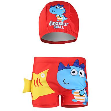 baratos Roupa de Banho para Meninos-Infantil Bébé Para Meninos Básico Estilo bonito Listrado Estampado Estampado Roupa de Banho Azul
