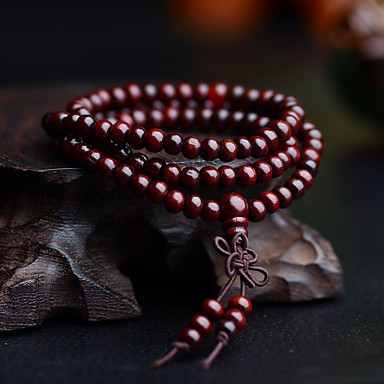 voordelige Herensieraden-Heren Kralenarmband Wikkelarmbanden Sierstenen Meerlaags Eenvoudig Vintage Puinen Armband sieraden Zwart / Geel / Rood Voor Dagelijks Straat