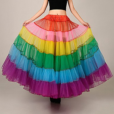 574526d9a9 Unicorn Pony Costume Classic Lolita Dress Women's Dress Petticoat Hoop Skirt  Tutu Under Skirt Rainbow Vintage