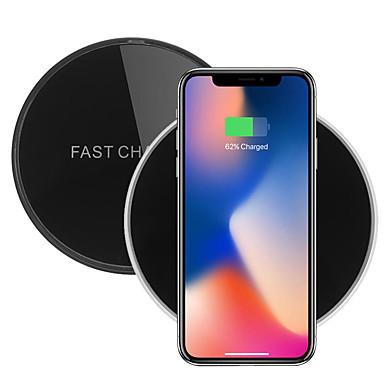 C6 10 วัตต์กระจกฉีอย่างรวดเร็วชาร์จไร้สายชาร์จสำหรับ iphone x 8/8 plus ซัมซุง s8 xiaomi mi5 mi6