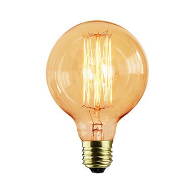 1pc 40 W E26 - E27 G80 Giallo Corpo Trasparente Incandescente Vintage Edison Lampadina 220-240 V #07157793 Squisita (In) Esecuzione