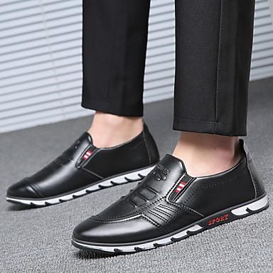 Miesten Comfort-kengät PU Kevät Mokkasiinit Musta / Ruskea